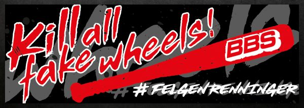 KILL ALL FAKE WHEELS Sticker