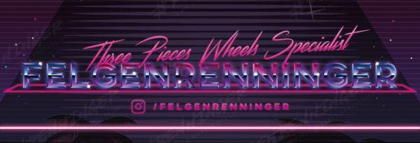 #FELGENRENNINGER Sticker II